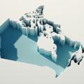 Canada Simple Intrusion Map 3d Render by Frank Ramspott
