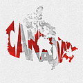 Canada Typographic Map Flag by Inspirowl Design