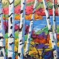 Canadian Birches By Prankearts by Richard T Pranke