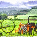 Canadian Farmland With Tractor by Betty Denise