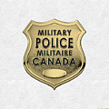 Canadian Forces Military Police C F M P  -  M P Officer Id Badge Over White Leather by Serge Averbukh