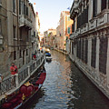 Canal And Gondola by Elaine Berger