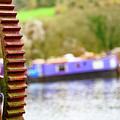 Canal Boat And Crane by Colin Rayner