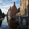 Canal By Church by Lawrence Boothby