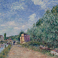 Canal Du Loing-chemin De Halage by Alfred Sisley