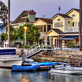 Canal Houses And Boats by David Zanzinger