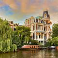 Canal In Amsterdam by Nadia Sanowar
