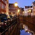 Canal Kromme Nieuwegracht In Utrecht In The Evening 15 by Merijn Van der Vliet