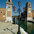 Canal Leading Into The Arsenale by Todd Gipstein