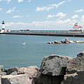 Canal Park In Duluth  by Chip Jones