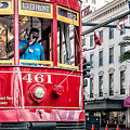 Canal Street Streetcar Triptych-middle by Andy Crawford