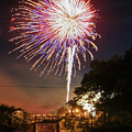 Canal View Of Fire Works by Paula Guttilla