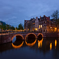 Canals Of Amsterdam At Night by Anastasy Yarmolovich