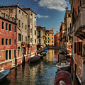 Canals Of Venice 002 by Lance Vaughn
