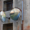 Canals Reflected In Mirrors In Venice Italy by Louise Heusinkveld