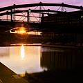 Canalside Dawn No 2 by Chris Bordeleau
