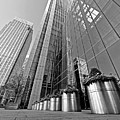 Canary Wharf Financial District In Black And White by Gill Billington