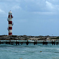 Cancun Lighthouse by Connie Diane Richards