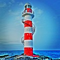 Cancun Lighthouse  by Wendy Johnson