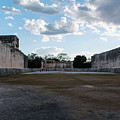 Cancun Mexico - Chichen Itza - Great Ball Court - Open End by Ronald Reid