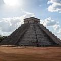 Cancun Mexico - Chichen Itza - Temple Of Kukulcan-el Castillo Pyramid 1 by Ronald Reid