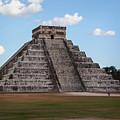 Cancun Mexico - Chichen Itza - Temple Of Kukulcan-el Castillo Pyramid 2 by Ronald Reid