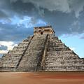 Cancun Mexico - Chichen Itza - Temple Of Kukulcan-el Castillo Pyramid 3  by Ronald Reid