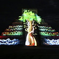 Cancun Mexico - Chichen Itza - Temple Of Kukulcan-el Castillo Pyramid Night Lights 5 by Ronald Reid