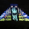 Cancun Mexico - Chichen Itza - Temple Of Kukulcan-el Castillo Pyramid Night Lights 6 by Ronald Reid