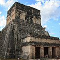 Cancun Mexico - Chichen Itza - Temples Of The Jaguar On The Great Ball Court by Ronald Reid