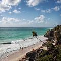 Cancun Mexico - Tulum Ruins - Caribbean Beach by Ronald Reid
