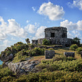 Cancun Mexico - Tulum Ruins - Temple For God Of The Wind 2 by Ronald Reid