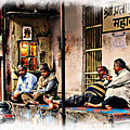 Candid Bored Yawn Pj Exotic Travel Blue City Streets India Rajasthan 1a by Sue Jacobi