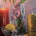 Candlelit Lupins by Lorraine Vatcher