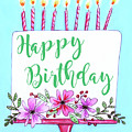 Candles And Cake by Elizabeth Robinette Tyndall