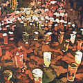 Candles In Graveyard During Day Of The Dead In Patzcuaro, Mexico by Ryan Fox