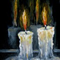 Candles Oil Painting by Natalja Picugina