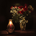 Candlestick And Roses by Aaron Shortt