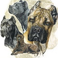 Cane Corso W/ghost by Barbara Keith