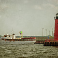 Canim And Milwaukee Pierhead by Susan McMenamin