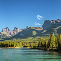 Canmore Alberta Golden Hour by Joan Carroll
