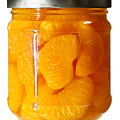 Canned Mandarin Oranges In Glass Jar by Donald  Erickson