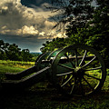 Cannon Encampment Valley Forge by Howard Roberts