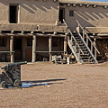 Cannon In Courtyard At Bents Old Fort by Fred Stearns