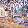 Canoe And Bridge by Joseph Sandora Jr