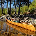 Canoe At Portage Landing by Larry Ricker