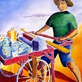 Canoe Fisherman With Cart by Buster Dight