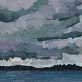 Canoe Lake Rain Clouds by Phil Chadwick