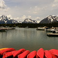 Canoe Meeting At Jackson Lake by Christiane Schulze Art And Photography