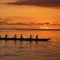 Canoe Paddlers Silhouette by Joe Carini - Printscapes